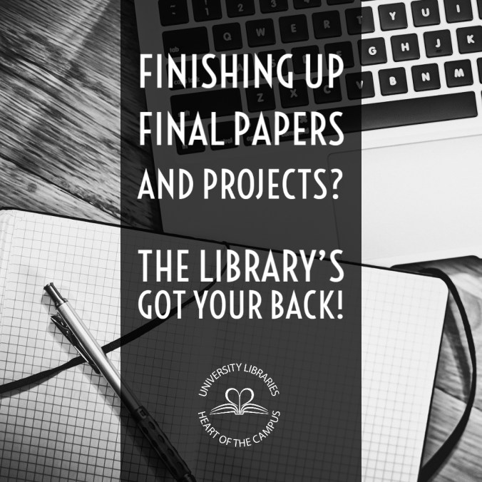 example of Instagram post for library helping with papers and projects