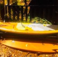 Broken EPS surfboards...