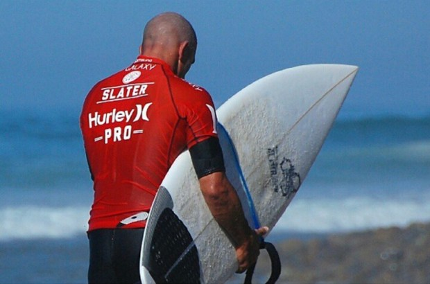 Kelly Slater, wondering why the Hell he ever decided to leave Lower Trestles for the desert.