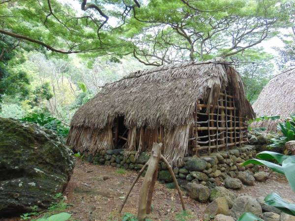 hut at waimea valley falls oahu hawaii north shore