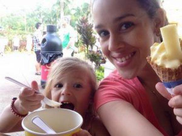 Done Plantation in Wahiawa, Hawaii - delicious ice cream.