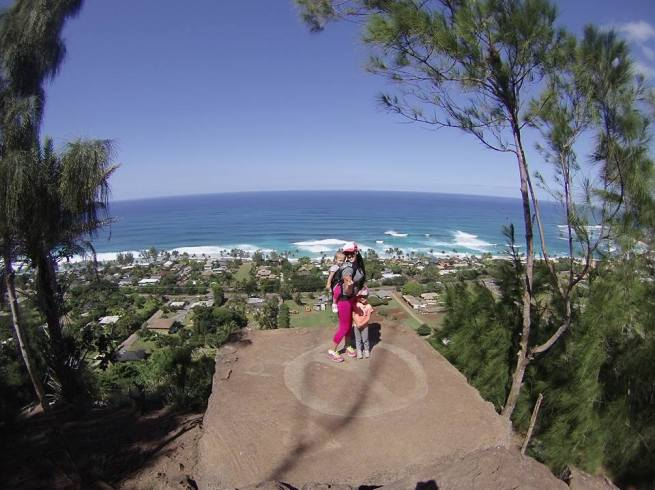 Ergo Baby at Ehukai Pillbox Trail in Oahu Hawaii