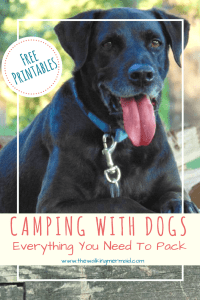 Camping With Dogs. Everything you need to pack. Free printables