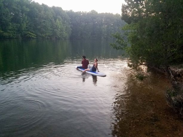 Paddle Boarding At Tim's Ford State Park, Winchester, Tennessee