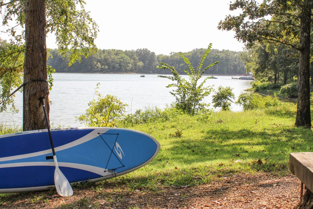 Surftech Paddle Board at Land Between The Lakes - Piney Campground