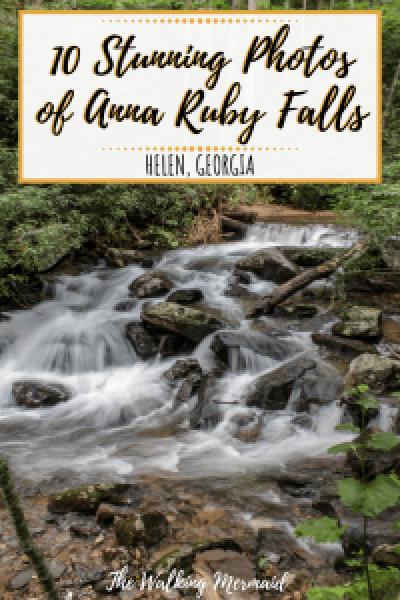 anna ruby falls helen georgia unicoi state park overlay pinterest
