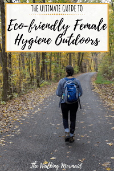 eco-friendly female hygiene outdoors overlay pin image