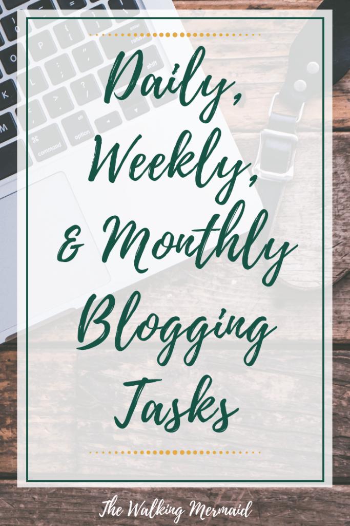 Blogging tasks