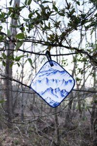 Kula Cloth Indigo Peaks pee cloth for women