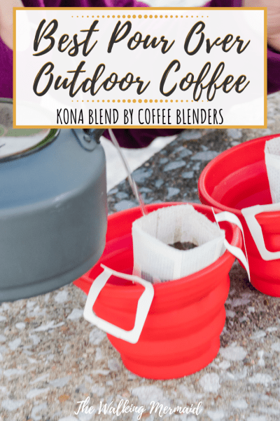 outdoor pour over coffee from coffee blenders overlay pin image