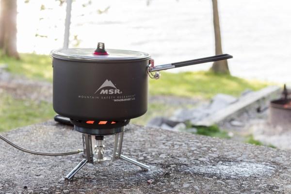 msr gear wind burner sauce pot stove system