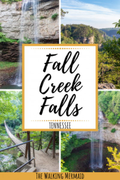 fall creek falls state park tennessee travel outdoors hiking camping guide overlay pinterest pin image