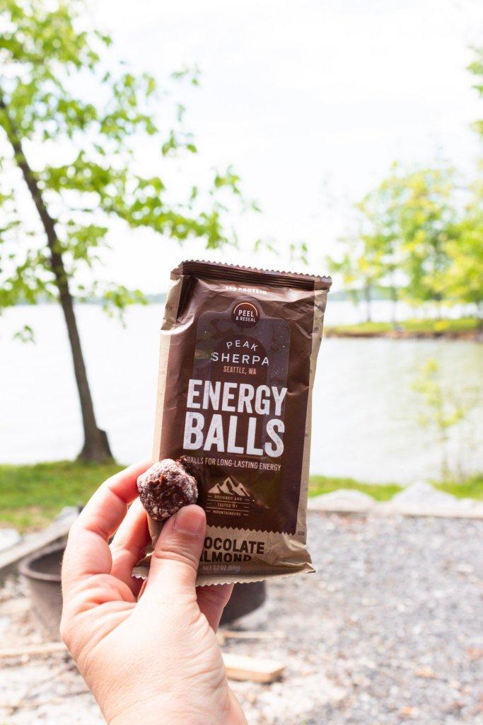 peak sherpa energy bites balls organic trail food snack camping outdoors hiking himalayas