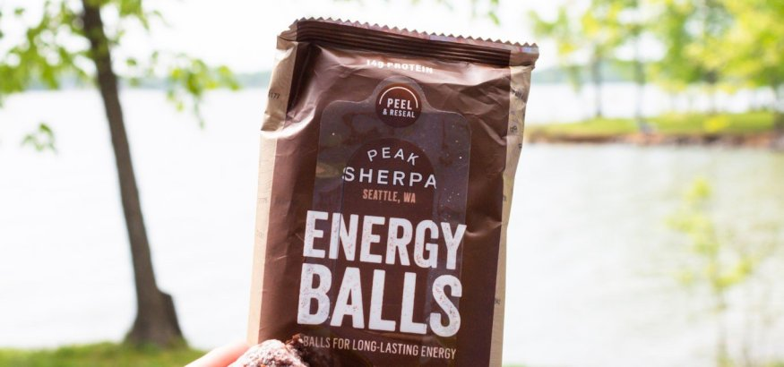 peak sherpa energy bites balls organic trail food snack camping outdoors hiking himalayas