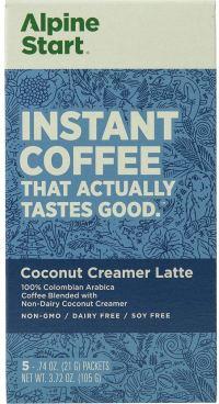 alpine start instant coffee coconut creamer