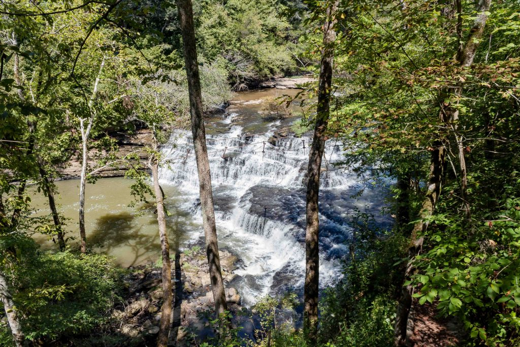 little falls overlook waterfal tennessee burgess state park