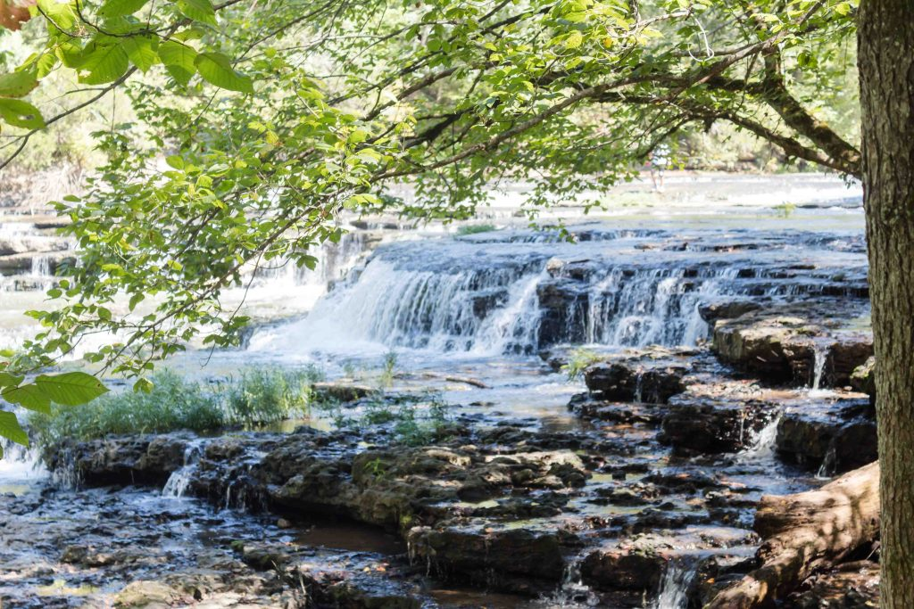 falling cascades at burgess falls state park in tennessee waterfall river hike