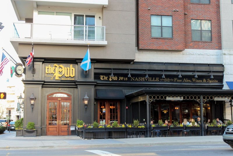 Ultimate Travel Guide To The Gulch in Nashville, Tennessee. The Pub restaurant at The Gulch.