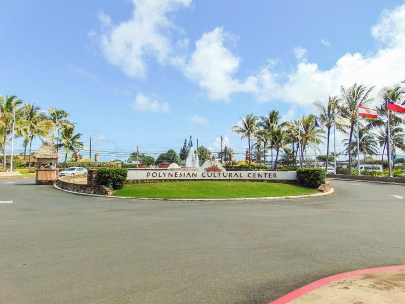 Entrance of The Polynesian Cultural Center in Oahu, Hawai'i.