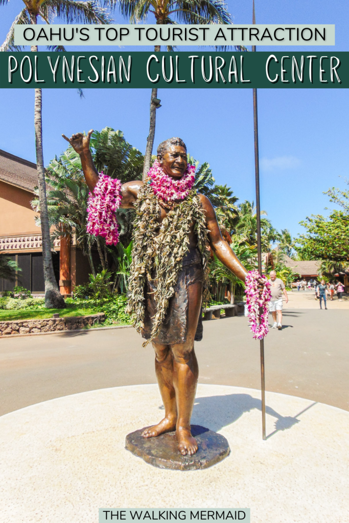 Statue at the Polynesian Cultural Center in Oahu, Hawai'i.
