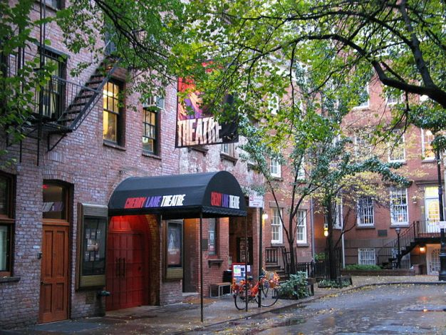 Cherry Lane Theater in Greenwich Village, 38 Commerce Street New York, NY 10014. New York City's oldest continuously running Off-Broadway theater.