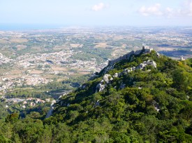 The view from Pena National Palace, Sintra, Portugal