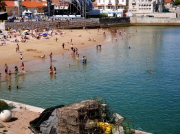 Boardwalk and Beach in Cascais, Portugal