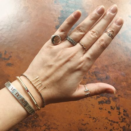 The Walkup Blog Victoria Emerson THREAD AND GOLD ID LAYERING BRACELET Giveaway