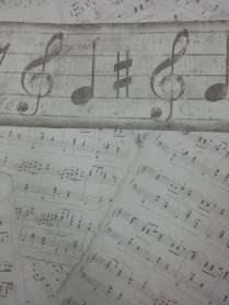 Papel pintado notas musicales