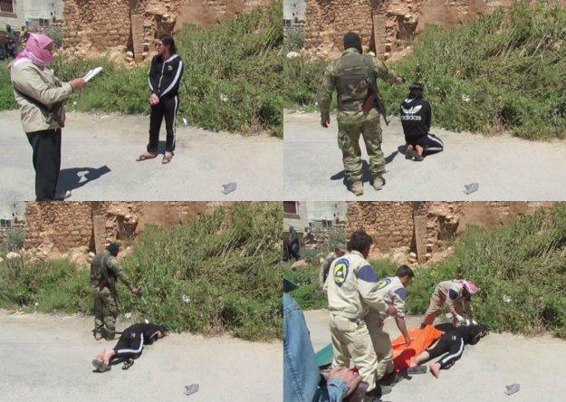 White Helmets facilitate Al Nusra execution. 5/5/2015. Aleppo