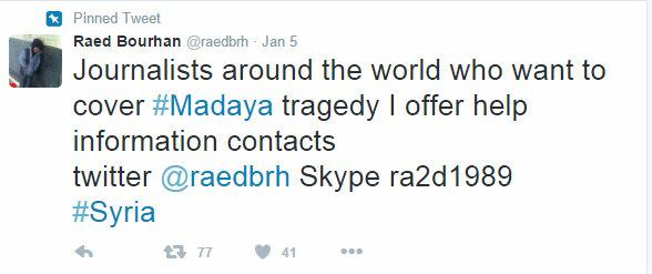 Raed Bourhan help tweet