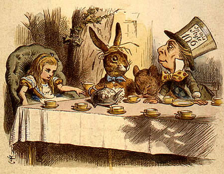 """The Mad Hatter's Tea Part from 'Alice in Wonderland"""" by Lewis Carroll"""