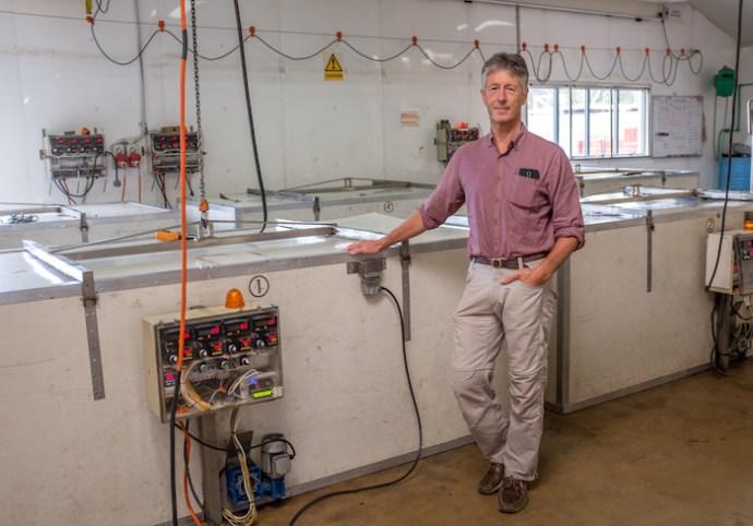Peter Bray at his processing plant in Leeston Jan 2018