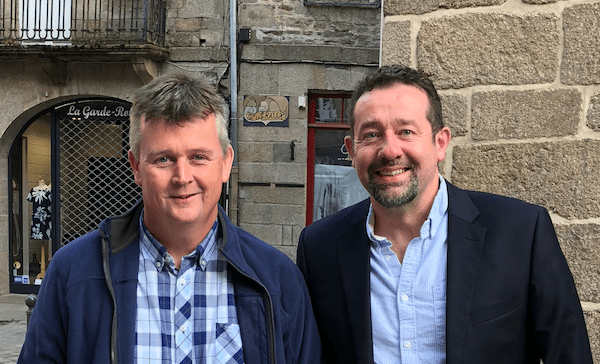 Richard Noel and Me in Dinan, France