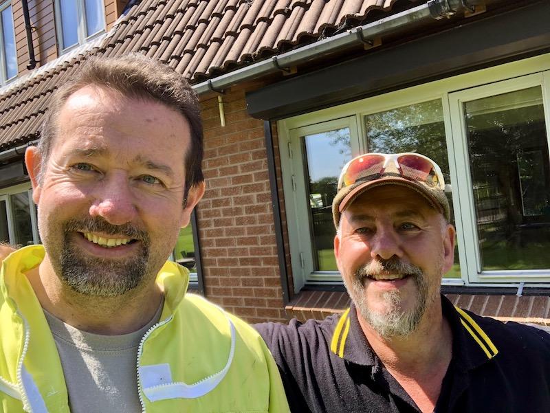 With Chris of Paul Jones Pest Control