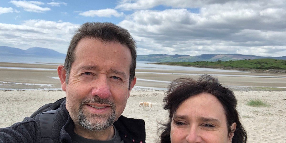 Mr & Mrs W taking a break in Argyll