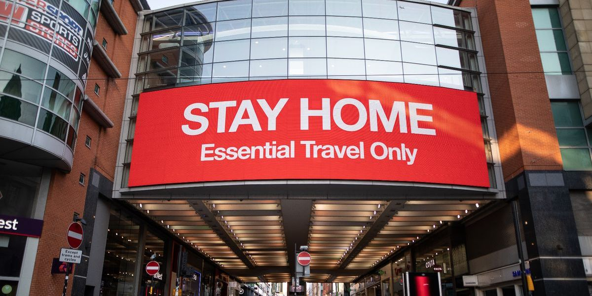 Stay Home Sign in Manchester