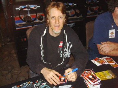 Eric Signing his cards at CAX 2012