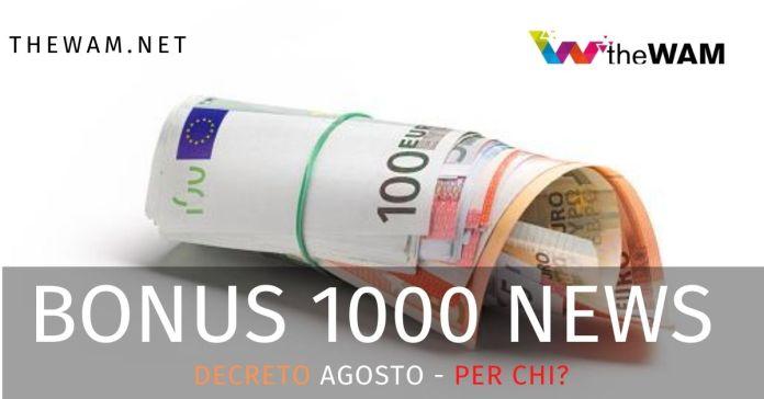 Bonus 1000 euro: per chi?