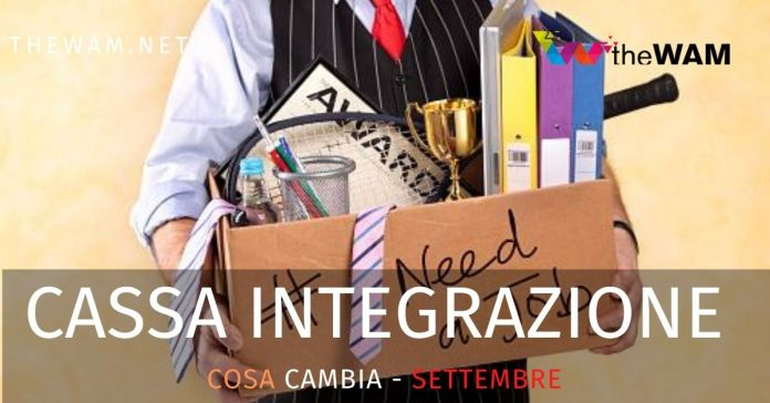 Cassa integrazione news settembre