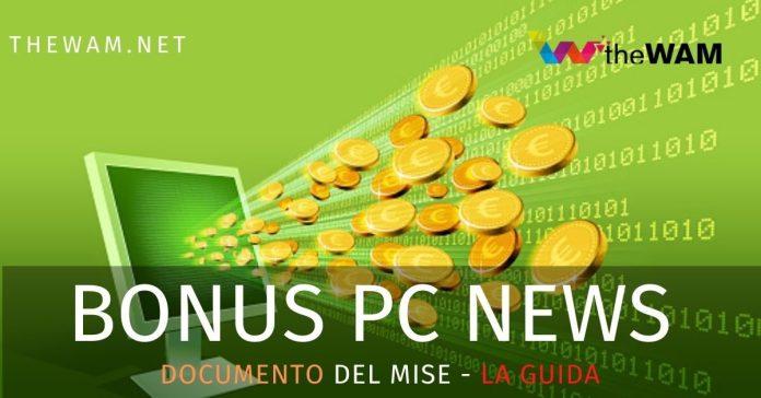 Bonus Pc 500 euro. Richiesta e pagamento. Il documento del Mise