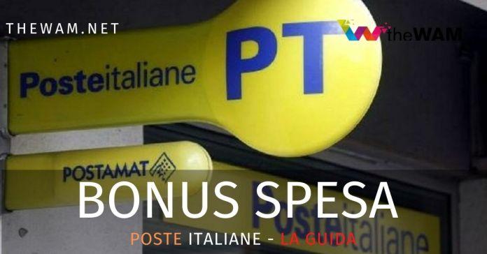Bonus spesa di Poste Italiane. Come averlo. La guida