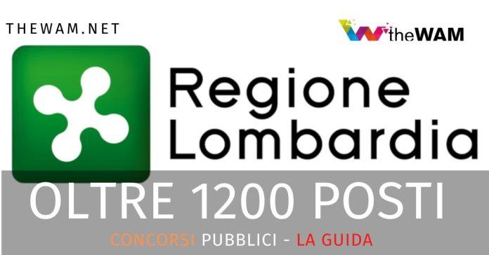 Concorsi Pubblici della Regione Lombardia nel 2020 per oltre 1200 posti