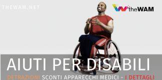 Detrazioni per disabili e sconti sugli apparecchi medici.