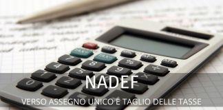 Nadef: compaiono l'assegno unico e la riforma fiscale. Le ipotesi