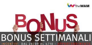 I bonus della settimana (27 settembre - 4 ottobre): requisiti e guide