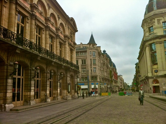 Streets in Reims France