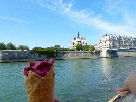 Gelato with a view, Paris.
