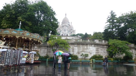Sacre Coeur in the rain