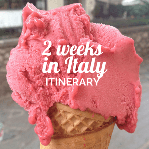 Itinerary 2 weeks in Italy
